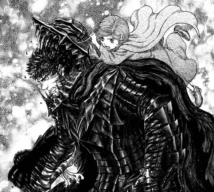 Schierke saves Guts from the berserk armor once again