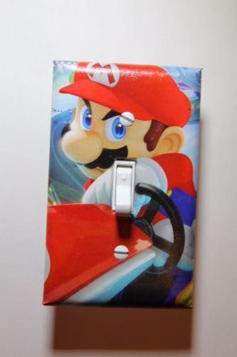 Mario Kart 8 Interruptor de Luz de vídeo juego placa de cubierta jugador Sala De Decoración Nintendo Wii U