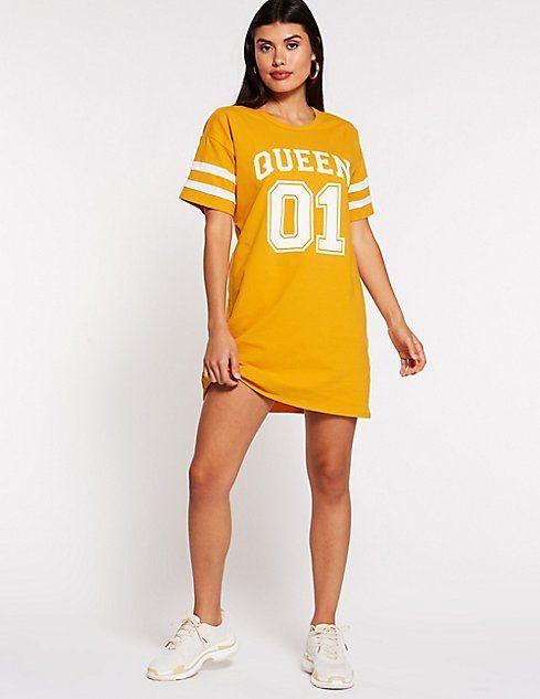4e48a8eb79ff Queen Graphic T-Shirt Dress   clothes → dresses   Dresses, Shirt ...