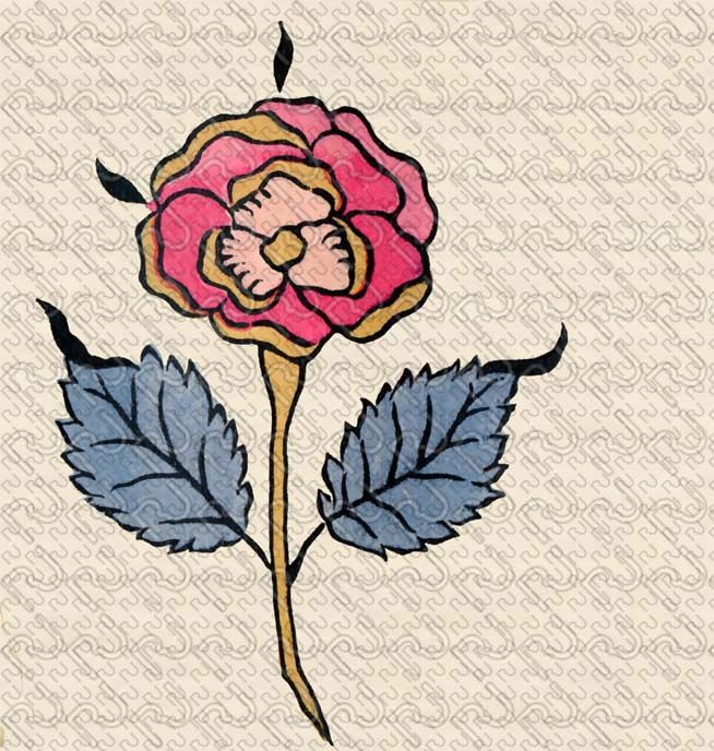(9168) 20's flat graphic flower – anni 20 fiore piatto grafico (preview150dpi) – Imagesfashiontextiles