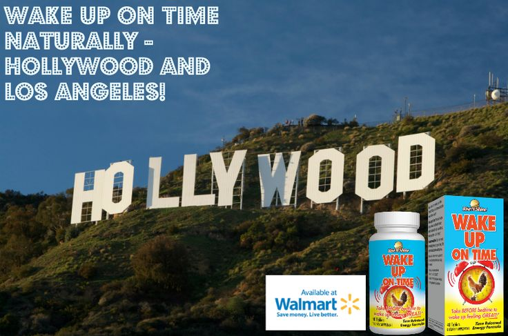 Wake Up On Time naturally in Hollywood and Los Angeles! Now available at a Walmart location near you! Image by Graphron. #risenshine #riseandshine #wakeupontime #morning #alarmclock #allnatural #madeintheusa #madeinamerica #nutritionalsupplements #vitamins #walmart #hollywood #hollywoodsign #losangeles #losangelescalifornia #energy #goodmorning