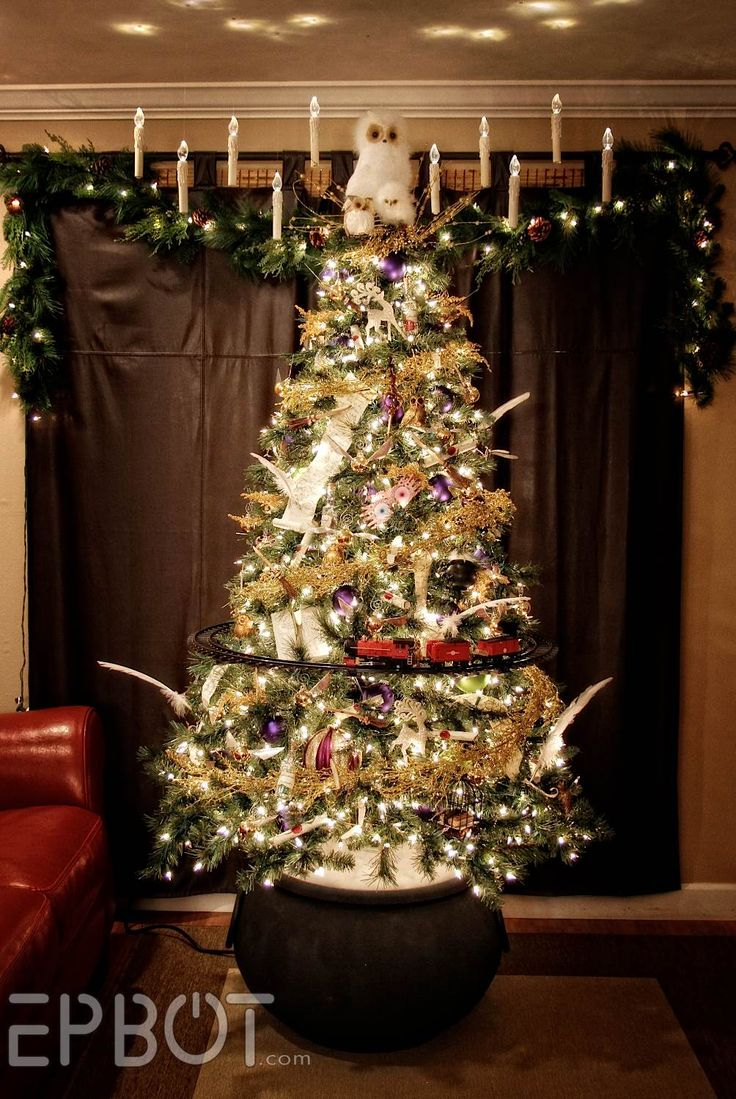29 besten harry potter christmas tree weihnachtsbaum. Black Bedroom Furniture Sets. Home Design Ideas