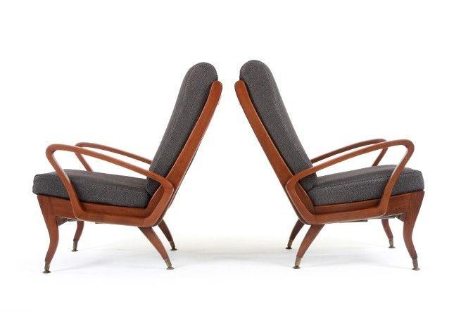Two Wrightbilt 'TV' Armchairs - Mr. Bigglesworthy Designer Vintage Furniture Gallery