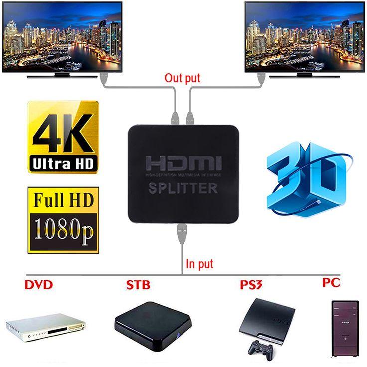 Great Neue Ultra HD Karat HDMI Splitter Volle HD D p Video HDMI Schalter