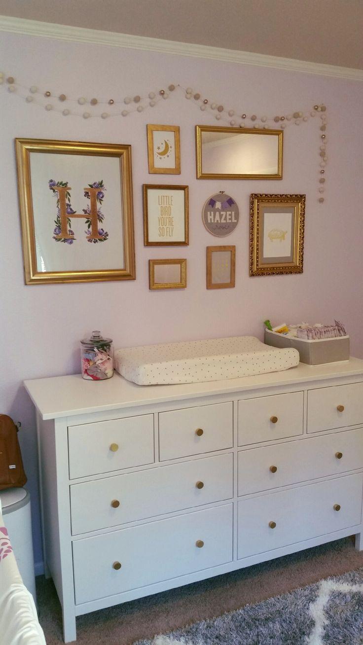 Hazelu0027s Chic Lavender + Gold Nursery