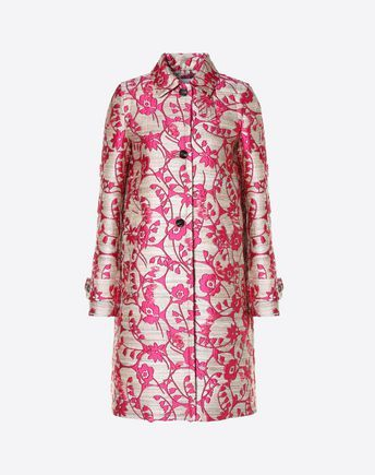 Are you looking for Valentino Jacquard Coat? Find out all the details at Valentino Online Boutique and shop designer icons to wear.