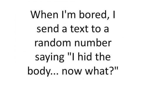 When I'm bored...: Texts, I M Bored, Quote, Giggl, Too Funny, Funny Stuff, Humor, Things, Hilarious