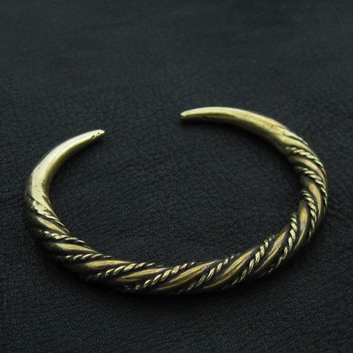 Bronze Viking bracelet by Sulik on Etsy