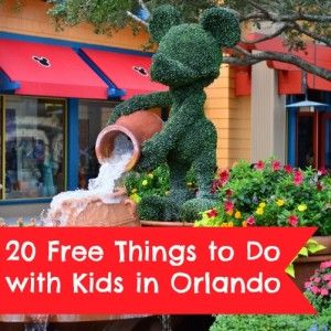 20 Free Things to Do with Kids in Orlando #orlando #disney #florida