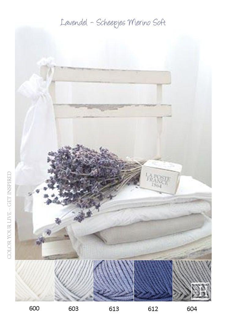 Kleurinspiratie lavendel - Scheepjes Merino Soft - Mooie tinten grijs en lila / paars