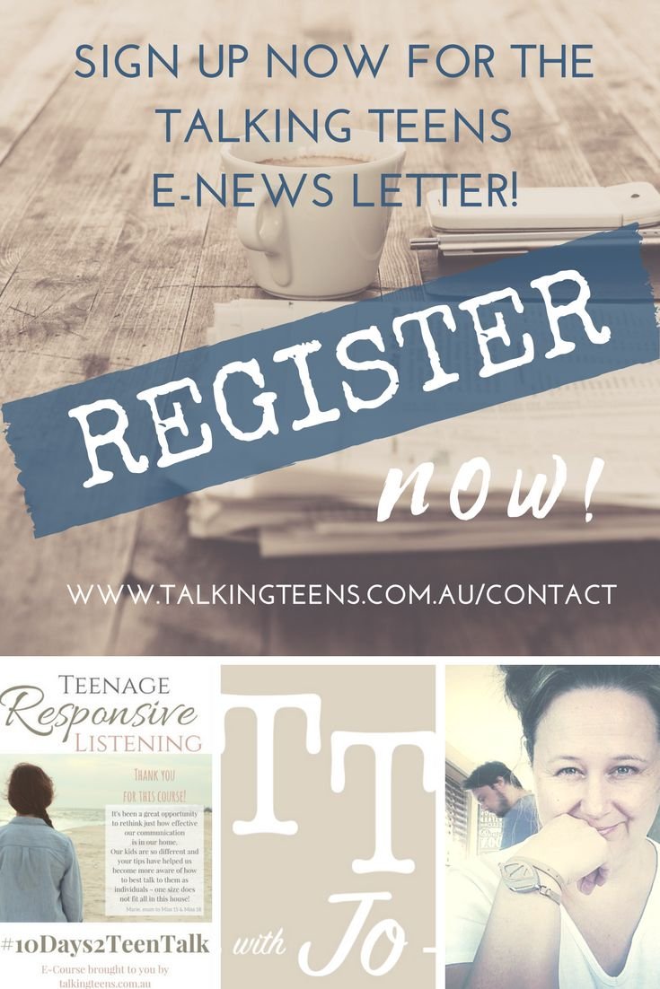 Talking Teens Monthly E-newsletter. Keep up to date on all that has been trending in the world of raising teenagers!  #parenting #teenagers #raisingteens #TalkingTeens #JoBainbridge