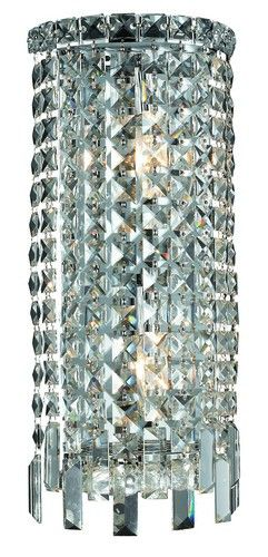 2031 Maxime Collection Wall Sconce W8in H16in E4in Lt:2 Chrome Finish (Elegant Cut. 2031 Maxime Collection Wall Sconce W8in H16in E4in Lt:2 Chrome Finish (Elegant Cut Crystals)  Watts: Lumens: Lamp Type: Shape: Style:Contemporary Light Bulbs:2 Bulb Type:E12 Bulb Wattage:40 Max Wattage:80 Voltage:110V-125V Finish:Chrome Crystal Trim:Elegant Cut Crystal Color:Crystal (Clear) Hanging Weight:8