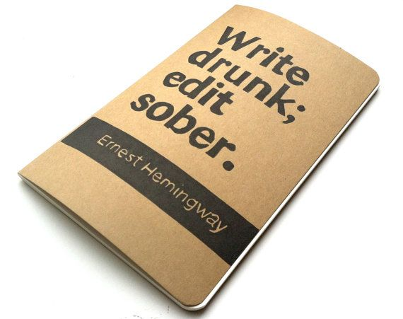 JOURNAL+with+Ernest+Hemingway+Quote+Cover+Art+by+WordsIGiveBy,+$17.50