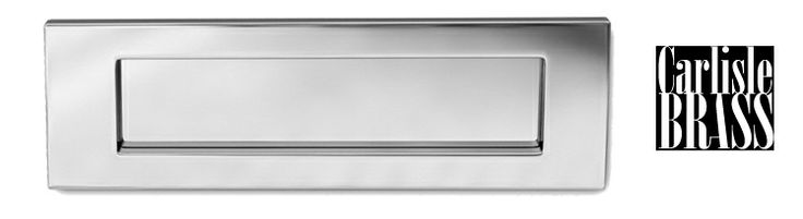 POLISHED CHROME PLAIN LETTER PLATES, VARIOUS SIZES - M36CP from The Door Handle Company