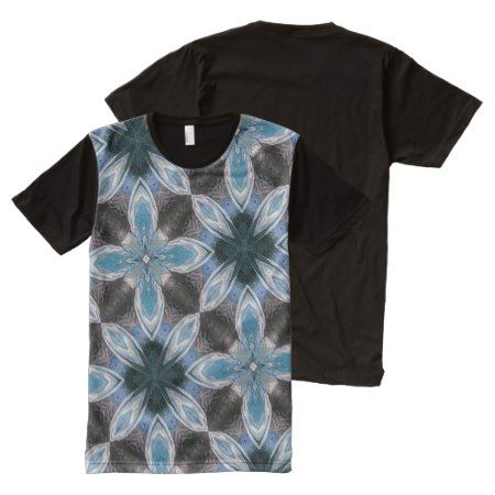 modern blue abstract pattern All-Over-Print T-Shirt - tap to personalize and get yours