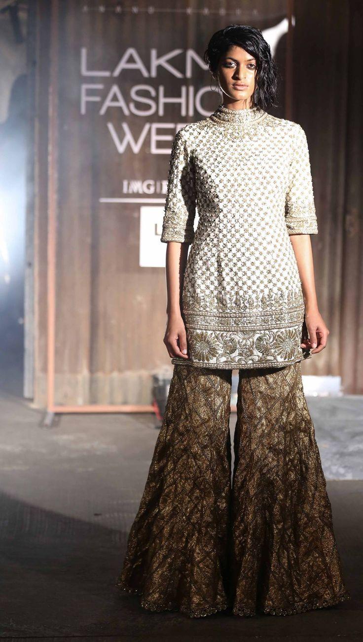 By designer Anand Kabra. Shop for your wedding trousseau, with a personal shopper & stylist in India - Bridelan, visit our website www.bridelan.com #Bridelan #anandkabra #lakmefashionweek