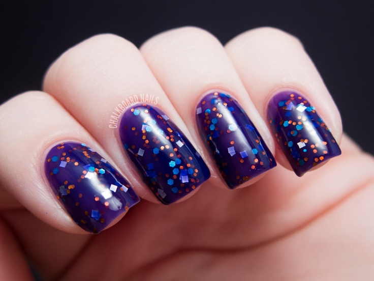 Chalkboard Nails: Urban Lacquer Ab Initio and 7 Wonders