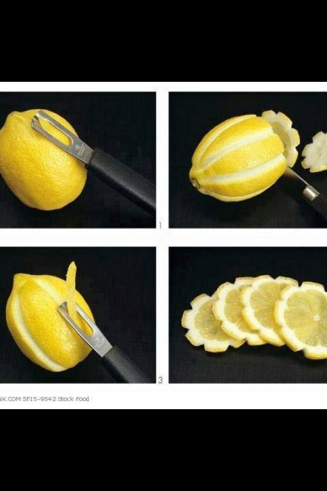 Cool Shaped Lemon Slices.
