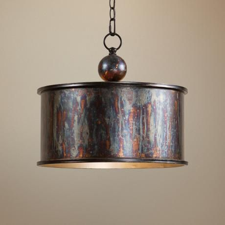 Uttermost Albiano Drum 1-Light Pendant several options in this line for blending fixtures