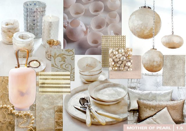 Mother of Pearl/ Trendcollage interieur 2013/2014 by trendwatcher Milou Ket by C-More