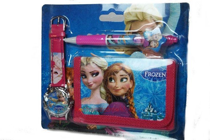 Zestaw Frozen portfel długopis zegarek 3 w 1
