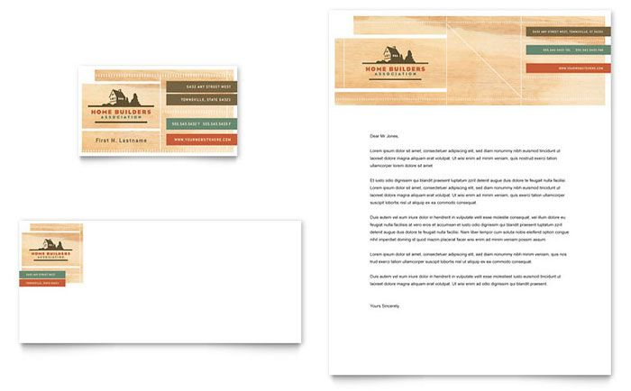 Home Builders and Construction Business Card and Letterhead Design - construction company letterhead template