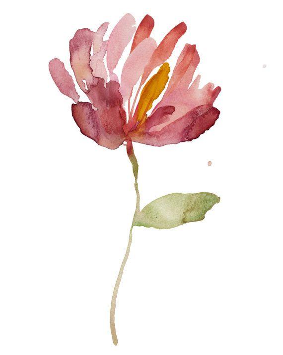 abstract calla - Watercolor, island chic, minimalist, coastal chic, art print, Hawaiian flower, tropical art,watercolor painting, minimalist