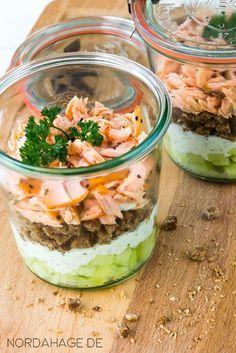 """★ nordahage - wohnen, kochen, selber machen: {Rezept} Sandwich im Glas """"to go"""""""
