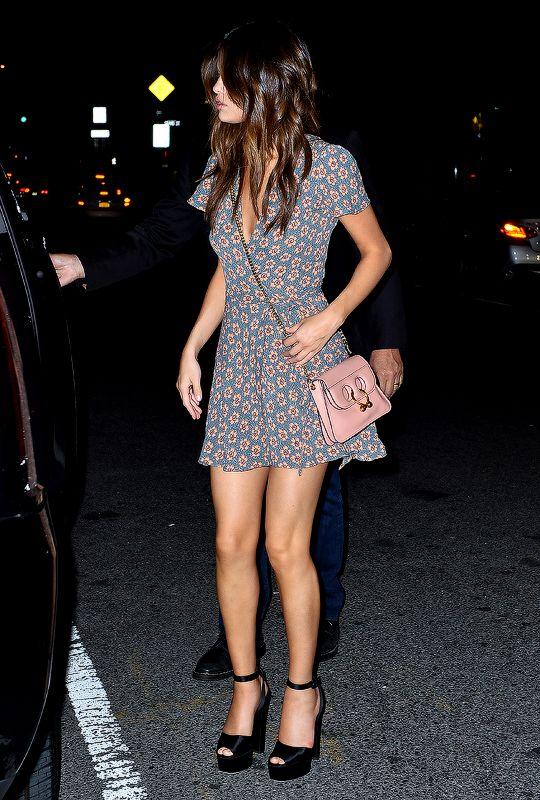 Selena Gomez out for dinner in New York City on June 3rd, 2017.