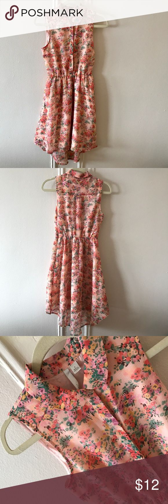 Pink floral LC Lauren Conrad dress Worn once beautiful pink floral Lauren Conrad dress in perfect condition. It's a great spring outfit in a size 2. LC Lauren Conrad Dresses