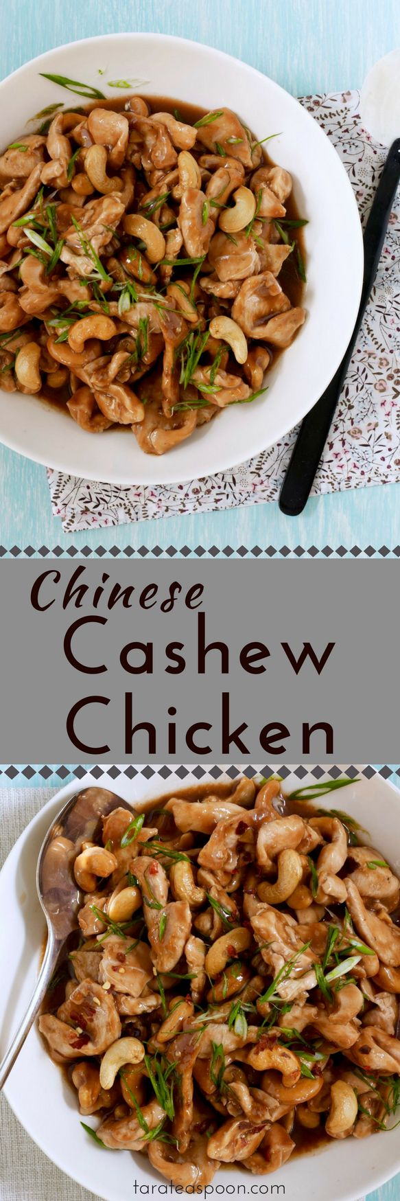 Cashew Chicken made at home pin