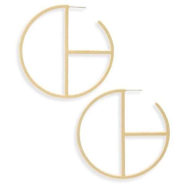 Women's Madewell Grid Hoop Earrings ($32) ❤ liked on Polyvore featuring jewelry, earrings, vintage gold, madewell jewelry, hoop earrings, yellow gold jewelry, geometric jewelry and polish jewelry