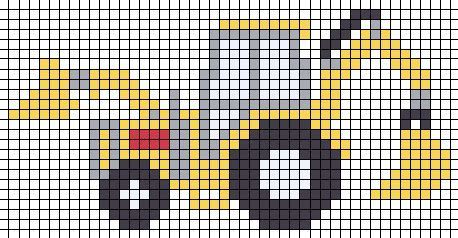 bulldozer x-stitch