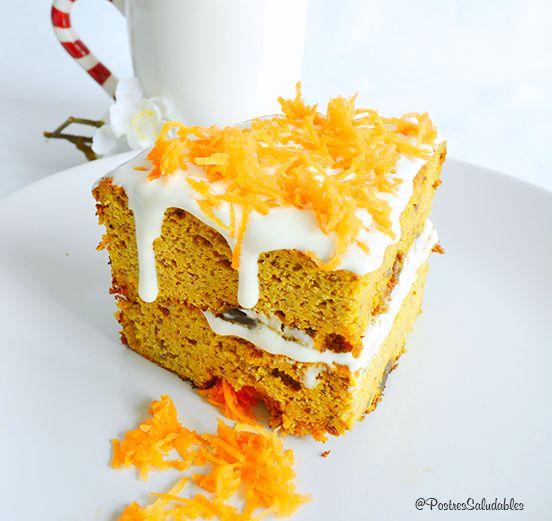El Pastel de Zanahoritas más saludable, suave, esponjo y jugoso del mundo. libre de azúcares refinados y harinas refinadas. La receta completa la tienes aquí