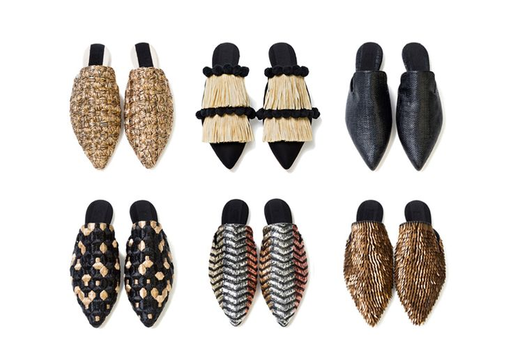 """Sanayi313 slippers.. """"Shoe designer Serena Uziyel is a Parsons School of Design graduate who honed her craft in Milan and Florence. Combining modern style with traditional craftsmanship, her exquisitely handmade shoes and bags reflect the imperfection of nature.."""""""