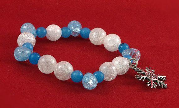 Frozen inspired Genuine Gemstone stretch Bracelet (b)