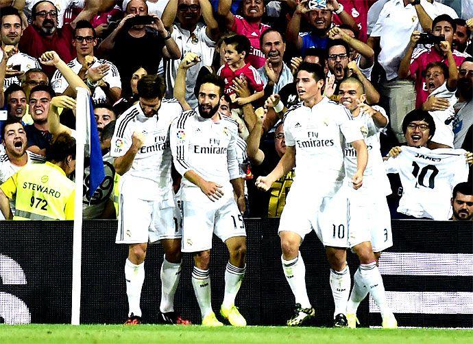 Primer gol de James Rodríguez con el Real Madrid en la Supercopa de España - diario El Pais