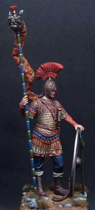 Byzantine Draconarius, 6th Century 75mm Painted by Alex Marios Aggelakis