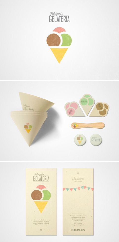 cool branding: Branding Design, Corporate Identity, Packaging Design, Graphics Design, Identity Design, Ice Cream, Branding Identity, Fedrigoni Gelateria, Icecream