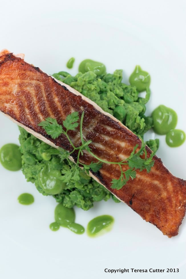 Smashed Green Peas and Salmon. Available at Fusion Cafe.