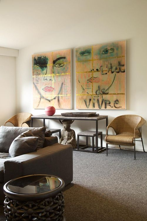 A HOME WITH BEAUTIFUL ETHNIC ART & OBJECTS | the style files