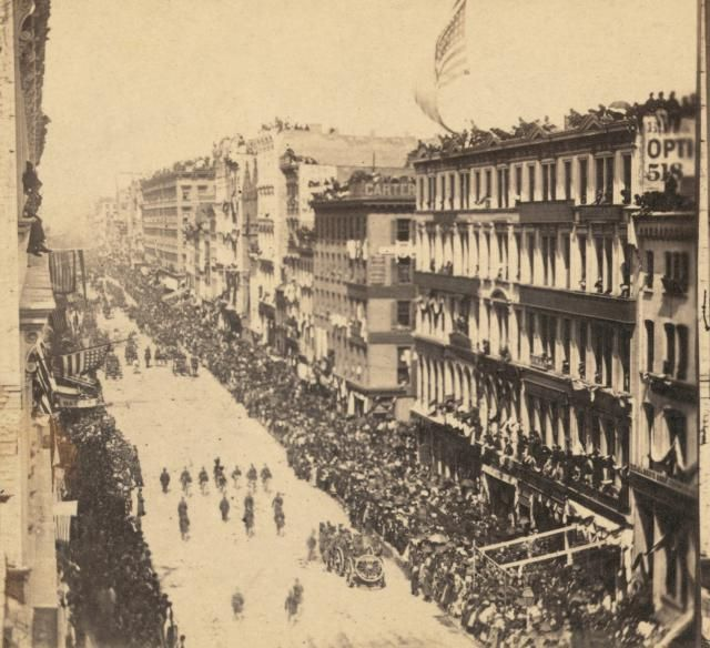 Lincoln's Traveling Funeral: Procession On Broadway