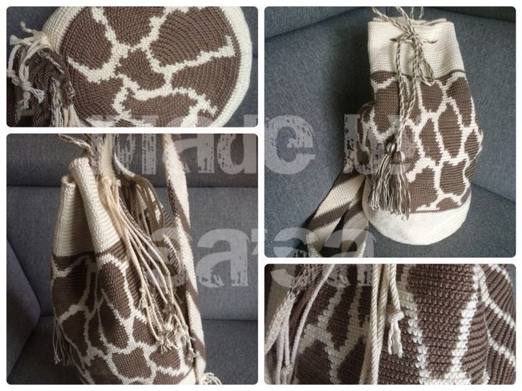 Mochila tas met giraffe print.