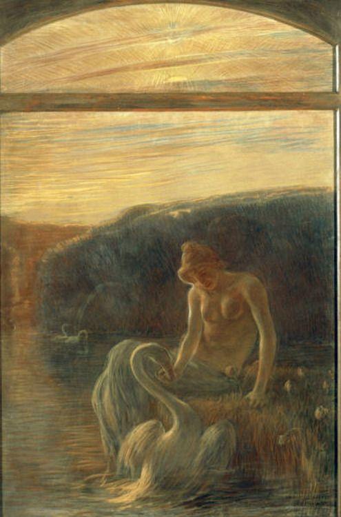 Leda and the swan by Gaetano Previati