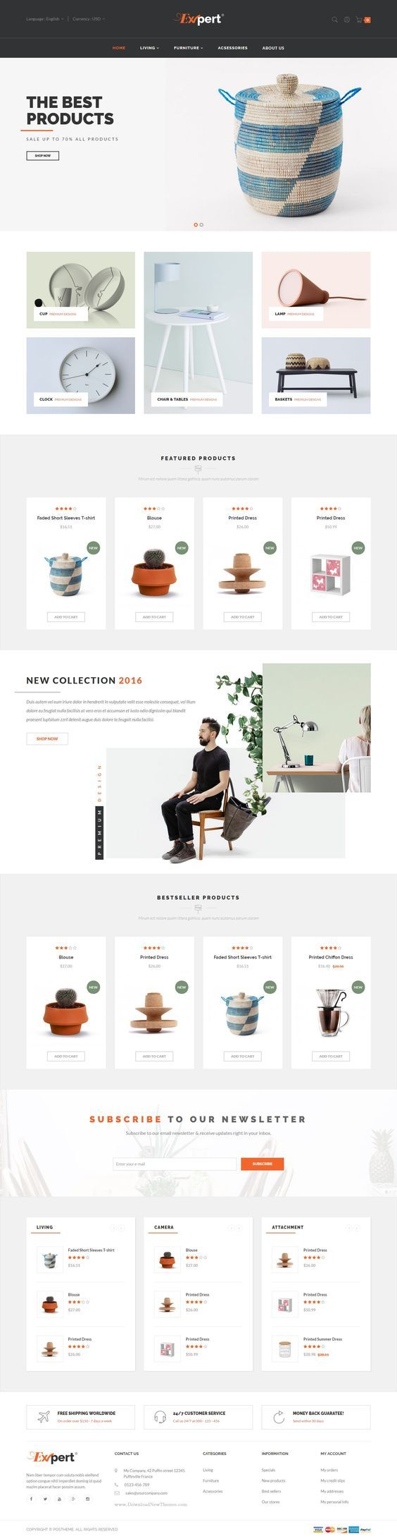 Expert: eCommerce Template #website #web #ecommerce #shopping #fashion #webdesign