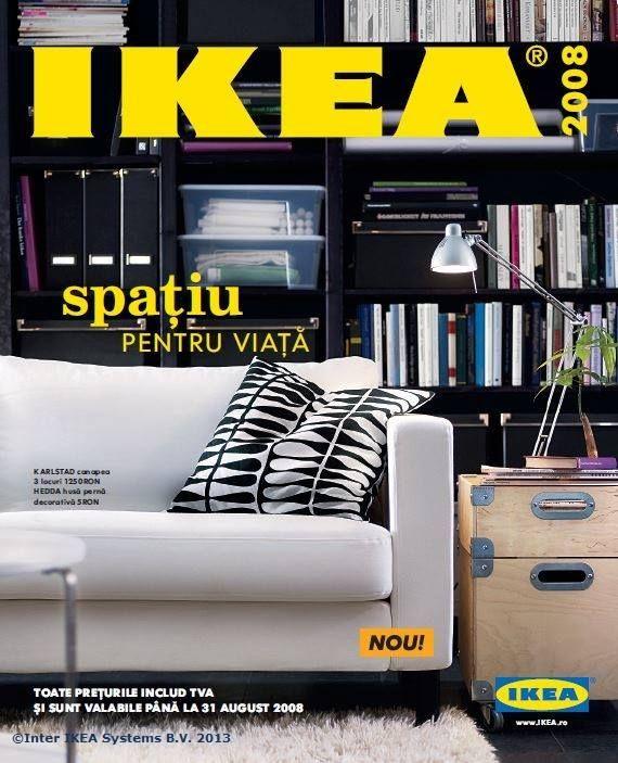 Catalogul IKEA 2008, 284 de pagini cu idei despre cum să îți faci mai mult spațiu pentru viață.