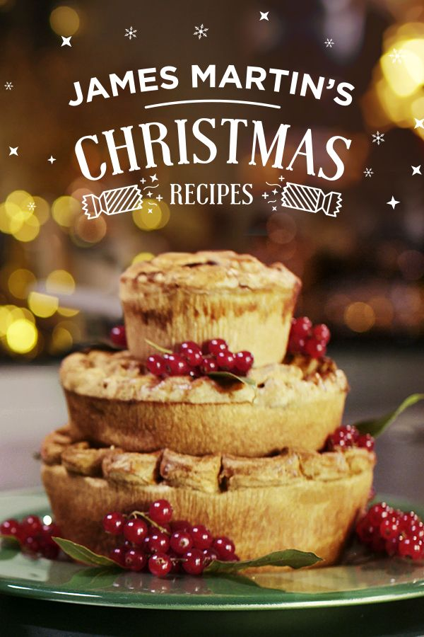 Extra Special Three Tier Pie.  Whip up James Martin's seasonal instant fruit chutney as the perfect partner for this Christmas Party dish