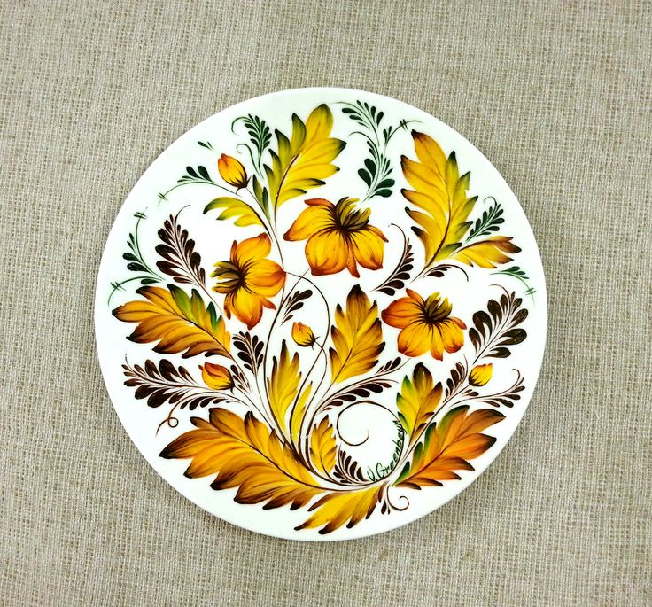 Petrykivka Painting plate (plate, oil) 165$