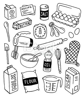 Baking Doodles Royalty Free Stock Vector Art Illustration