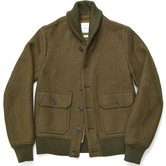 Brayden Bomber Jacket 100% Wool,